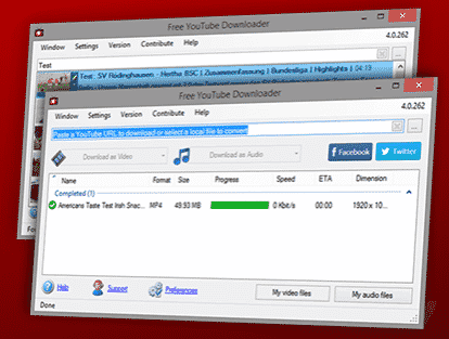 Free YouTube Downloader software
