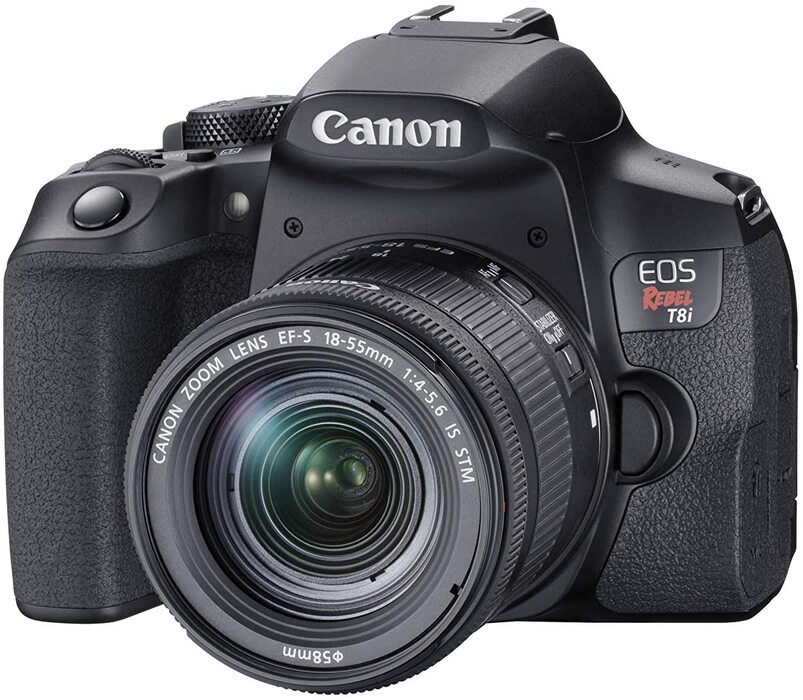 Canon T8i DSLR camera