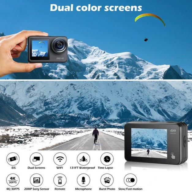 Campark V40 dual-screen action camera