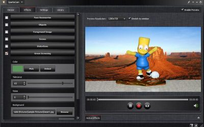 SparkoCam is a webcam and video effects software